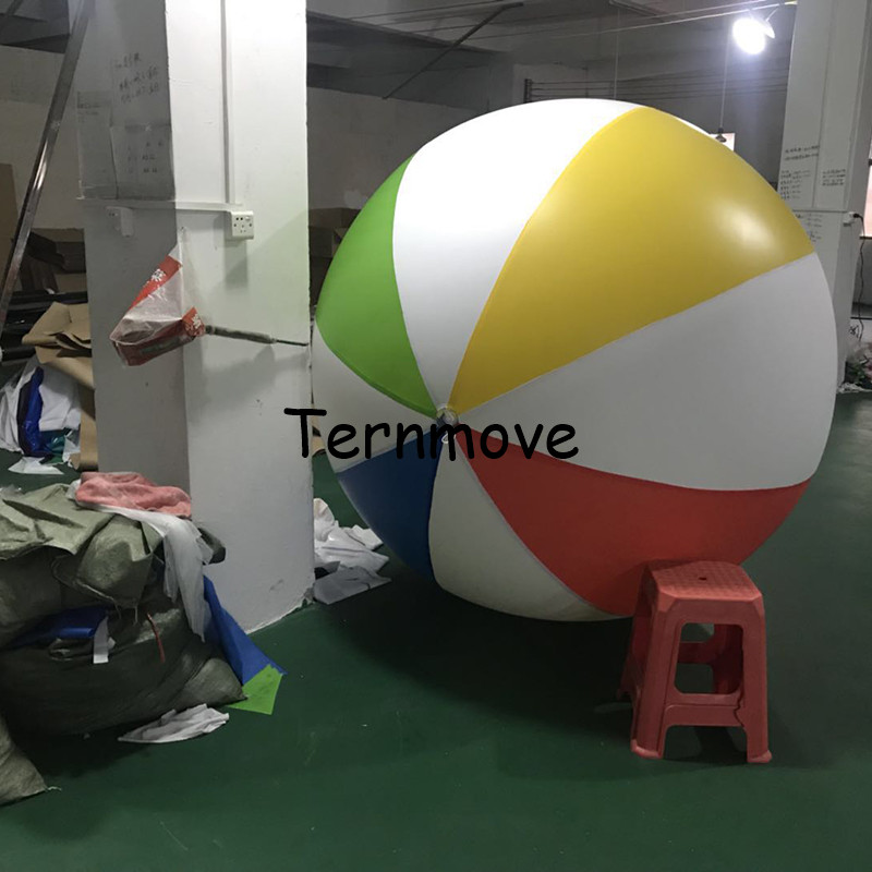 все цены на Inflatable 200CM Giant Colorful Volleyball Water Balloons Beach Ball Kids Adult Pool Playing Outdoor Balls