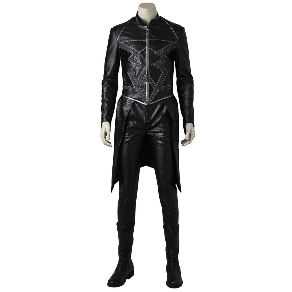 Inhumans Cosplay Inhumans Black Bolt Costume Suit Halloween Carnival Cosplay Costume For Men