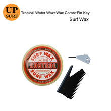 Surf Wax Round wax surfing board Tropical Water with comb