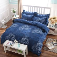 2016 new color flower four piece bedding quilt sheets and pillowcases microfiber sheets BL-007