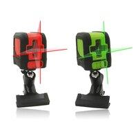 Laser Level Self Leveling Laser Leveler IP54 510nm 635nm 2 Cross Line Red Green Light Source + Universal Clip Portable