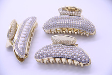 3PCS/lot Fashion Women Headwear Shower Hair Catcher Strainer Rhinestone Claw Clips Vintage Accessories for