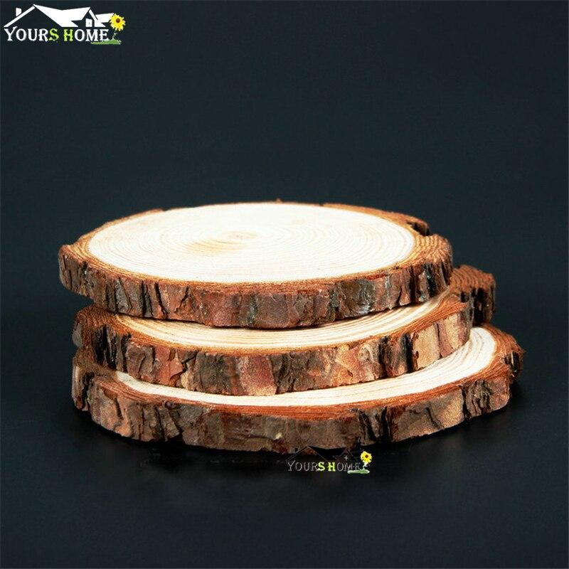 Diamètre de gros (10-26 cm) hauteur (1-2 cm) sous-verres tranches de bois tapis de Bar sous-verres en bois de saule récupéré caboteur en bois
