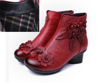 Schoenen Herfst Platte Vrouwelijke gris Laarzen Noir Grande 2018 vin rouge Mode Enkellaarsjes Taille Boot rose Pluche Elegante Chaud Lente Rouge Vrouwen Leer jaune Rouge SzxwqZ5Fw