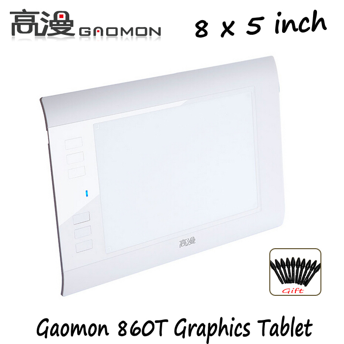 """Fabrika Promosyon Gaomon 860 T 8 """"Grafik Dijital Tablet Boyama Tabletler Için Profesyonel Çizim Tablet Mac Windows OS Beyaz"""