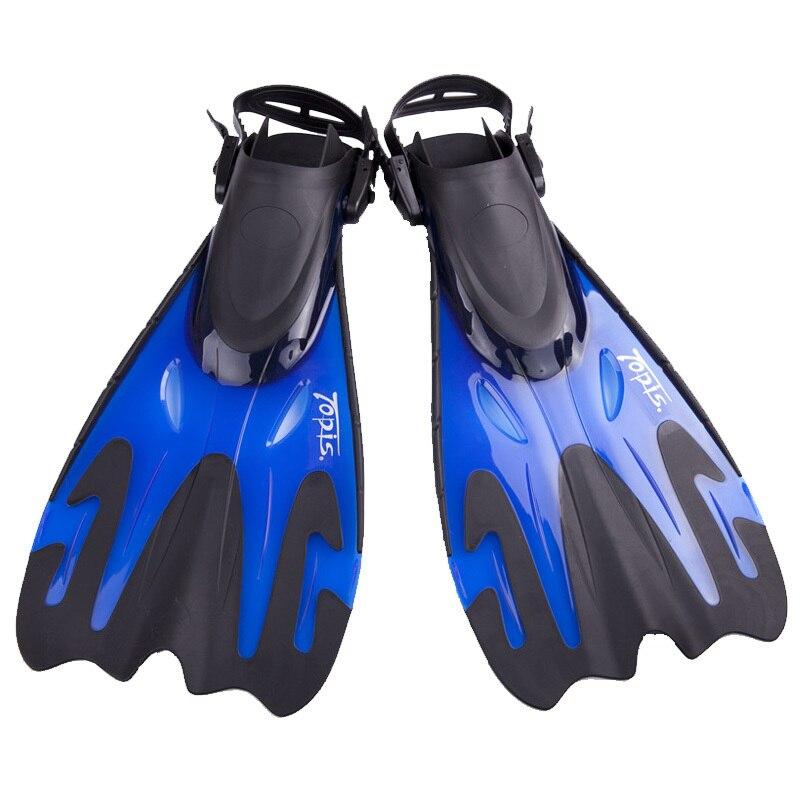 Palmes de plongée Topis hommes femmes entraînement de natation gratuit réglable long pied palmé sirène plongée sous-marine chaussures pieds monofin