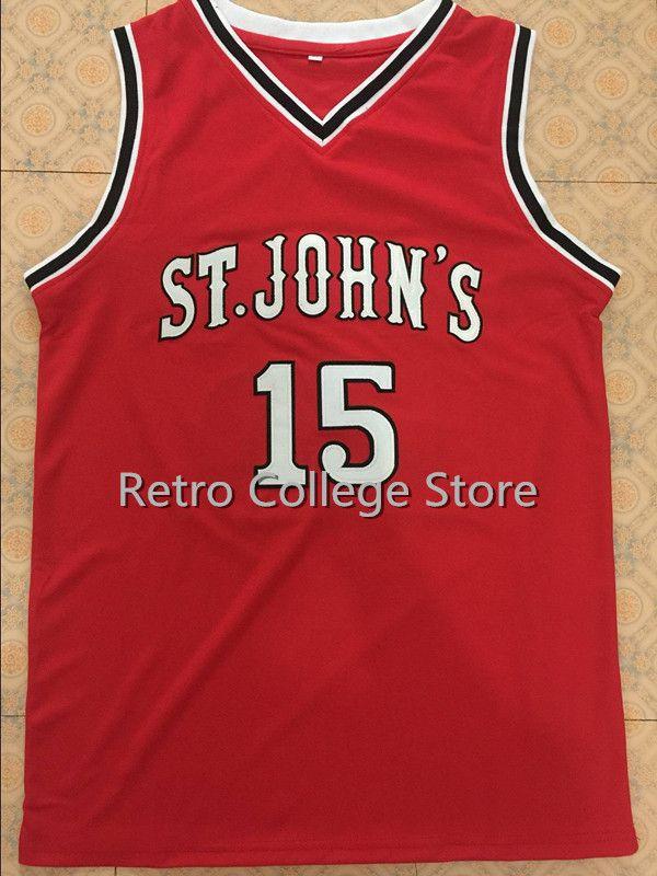 15 Рон Артест майки St John's университет Баскетбол Джерси, Крис Маллин Колледж Возврат трикотажные изделия, Для мужчин стежка