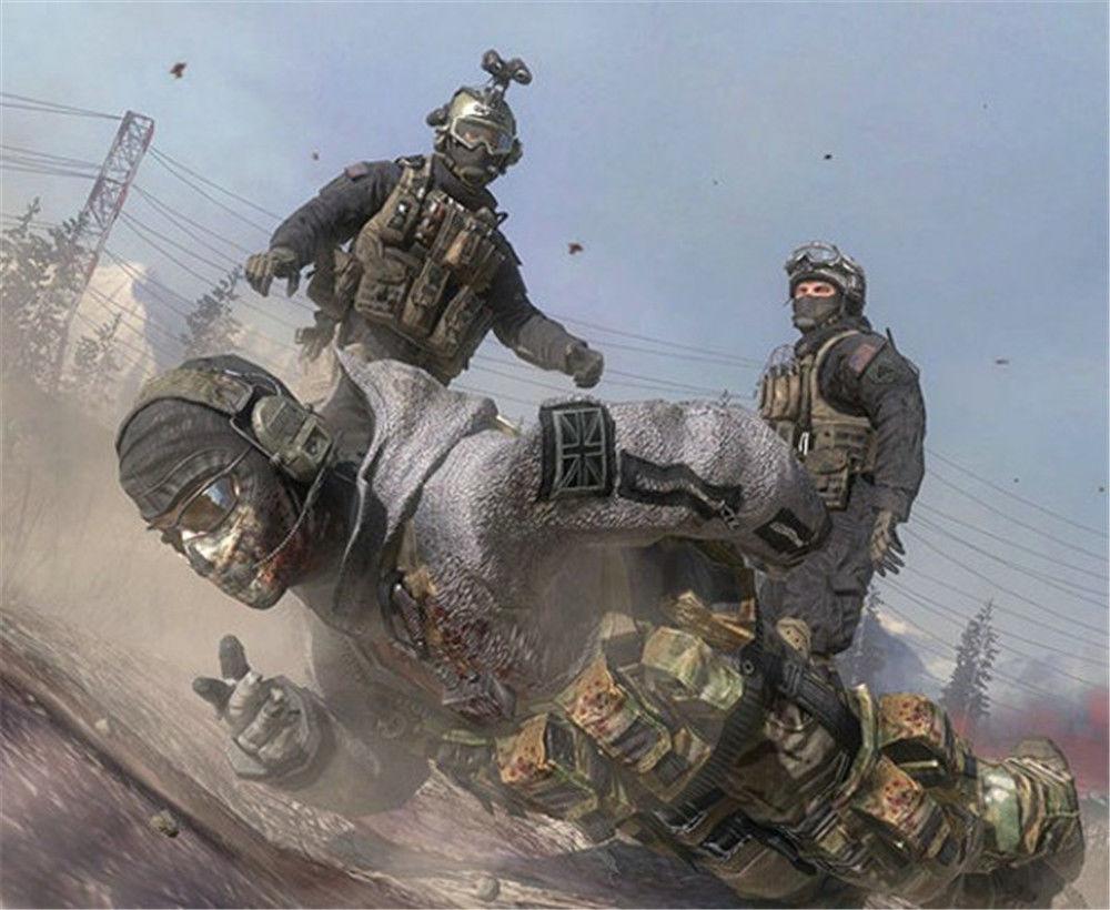 Cosplay Modern Warfare2 Task Force 141 Ghost Schlacht Mantel Zip Jacke