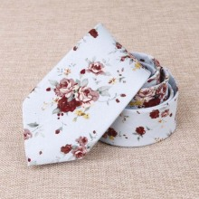 Mantieqingway Floral Mens Necktie Printed Skinny Ties Gravatas Brand Boys Accessories Casual Suits Slim Narrow Tie For Wedding