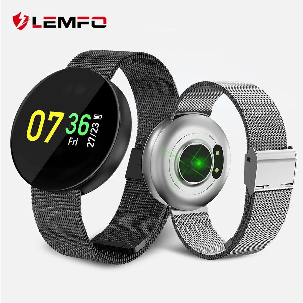 LEMFO HD OLED Écran Couleur IP67 Étanche Montre Smart Watch Multi Sport Mode Surveillance de la Fréquence Cardiaque Sang Pression Fitness Bracelet