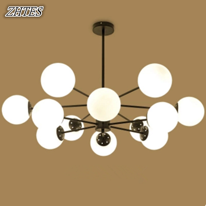 Nordic Living Room Glass Chandelier Creative Personality Magic Bean Branches Modern Children Bedroom Restaurant Lamps цена и фото