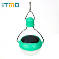 ITimo Outdoor Fence Green Housing Garden Light Sensor Solar Power Panel Lights 7 LED Bulbs Energy