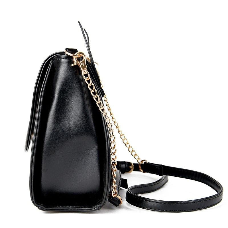bolsa de couro cadeia bolsa Bag Estilo : Women Bags Women Messenger Bags Brands Clutch Leather Handbag