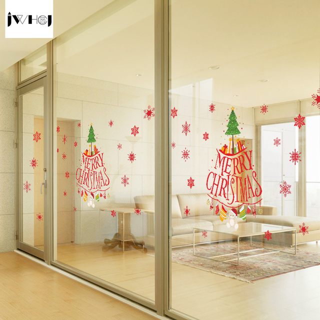 Glass Letters For Wall Jwhcj 45 X 60 Cm English Letters Christmas Tree Wall Sticker Glass