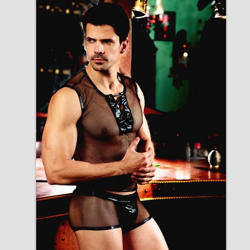 Heta Erotiska Män Sexiga Servitören Outfit Cosplay Kostym Män Städning Underkläder Halloween Cosplay Kostymer för Sexiga Män 9837