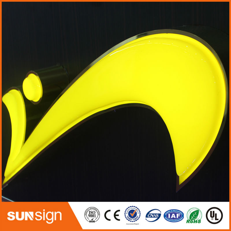 2016 New Style Blister Epoxy Resin Led Sign Lights