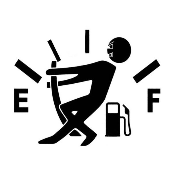 Engraçado Medidor de Combustível Vazio Corpo Etiqueta Do Carro Adesivo Removível Dos Desenhos Animados Gráfico Decalque