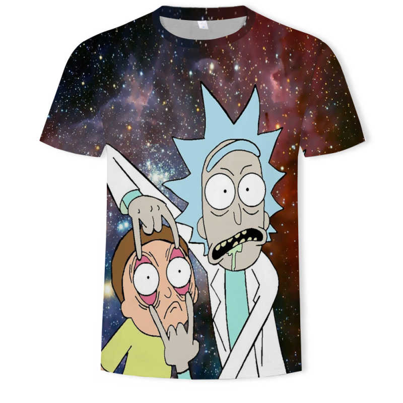 2019 zomer Art t-shirt Cartoon Rick en Morty 3d Print Mannen/vrouwen t-shirts Hip hop Tee shirts