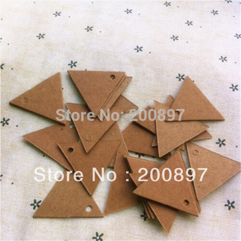 2016 Promotion Tags Wholesale Small Blank Kraft Tag Retro Style Cardboard Label Crafts Diy Jewelry Accessories 3.5cm