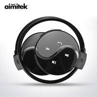 Aimitek Mini 603 Wireless Bluetooth Earphones Sports Stereo Headphones FM Radio MP3 Music Player Micro SD