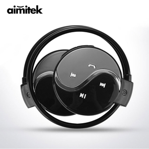 Image 1 - Aimitek Mini 603 Wireless Bluetooth Earphones Sports Stereo Headphones MP3 Music Player Micro SD Card Slot with Mic for Phones