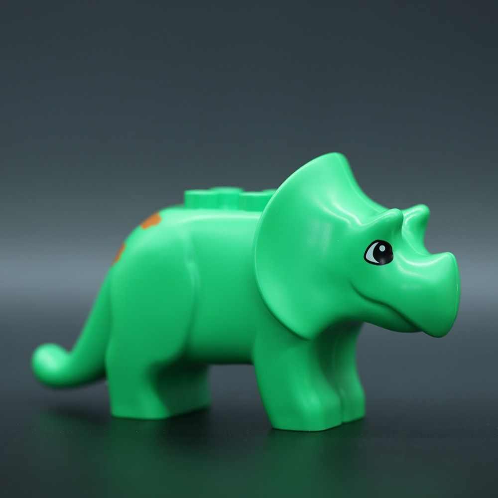 Модели животных из зоопарка Legoingly DIY большие частицы Кирпичи аксессуар игрушки милый слон жираф Тигр совместимый DUPLOES GK30