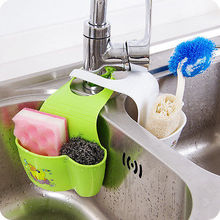 Cute Kawaii Kitchen Portable Hanging Drain Bag Drain shelf Basket Bath Storage Gadget Tools Sink Holder For kitchen(China (Mainland))