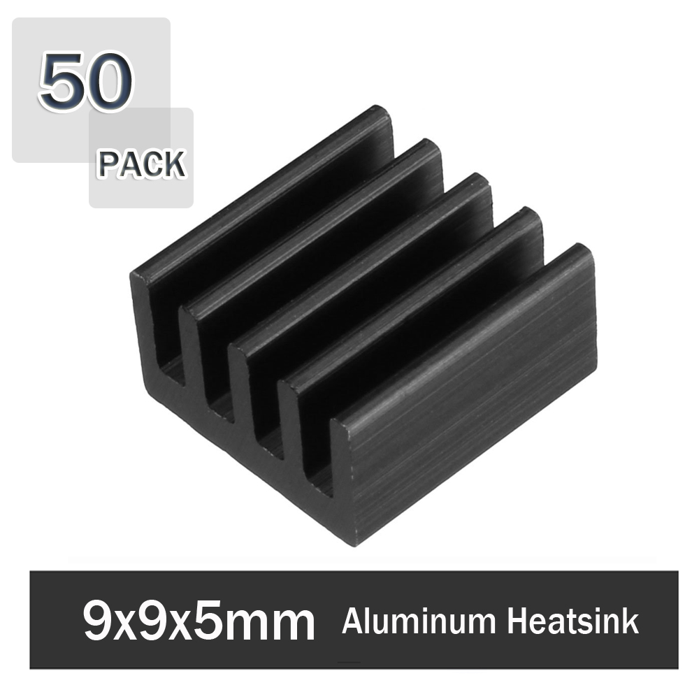 50Pcs Gdstime 9x9x5mm 3D Printer Parts Radiator Aluminium Heatsinks Stepper Motor Driver VGA RAM LED IC Heatsink Cooler image