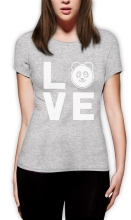"""I love Pandas"" women's t-shirt / girlie"