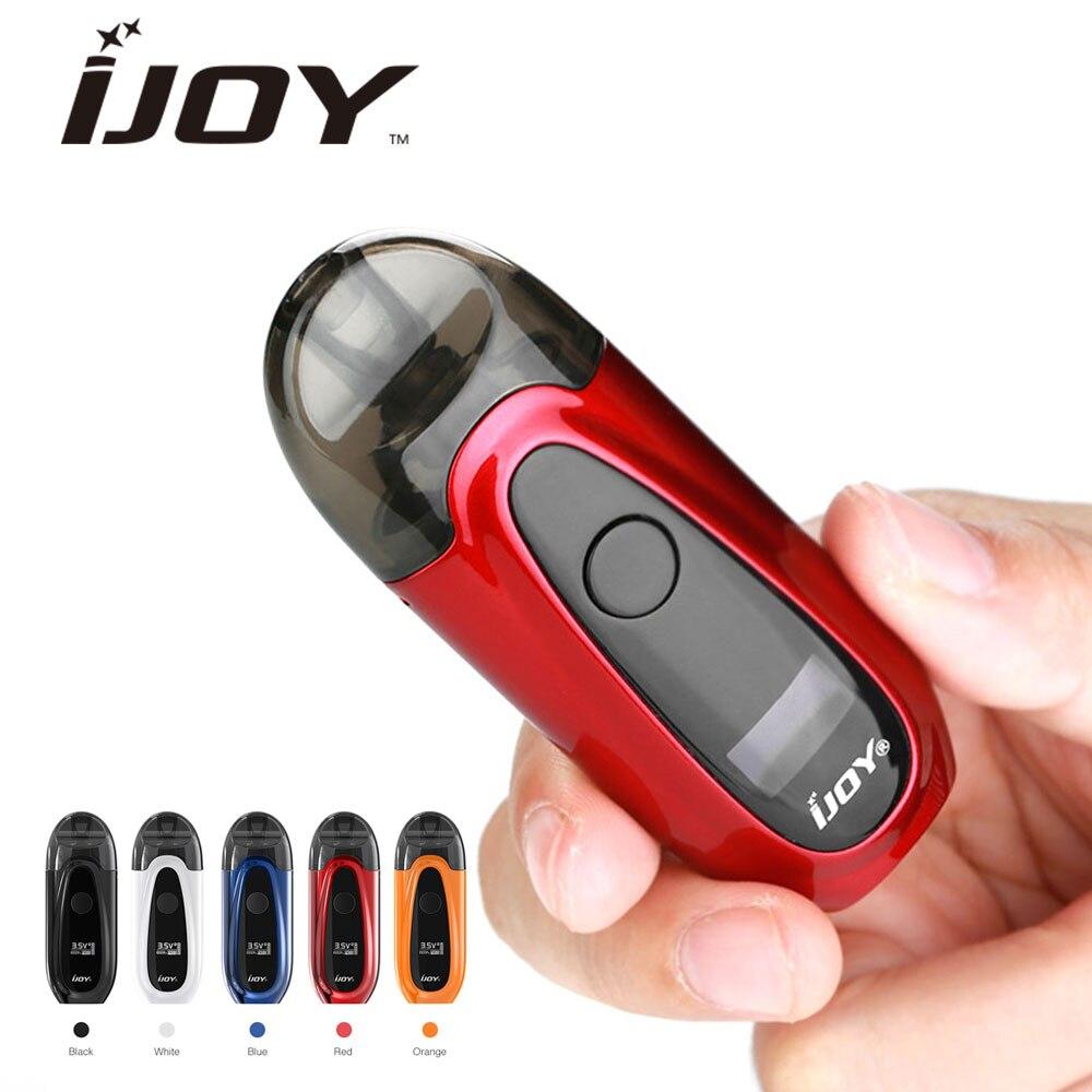 IJOY IVPC Kit de démarrage avec 2 ml e-jus cartouches & 350 mah batterie intégrée vaporisateur Pod système électrique Cigarettes vaporisateur