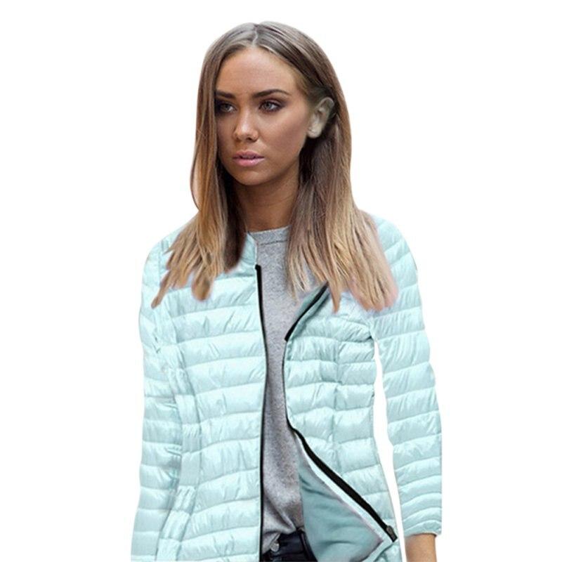 2017 Female Women Basic Coats Winter Zipper Hooded Jackets Overcoat Long-sleeved Casual Women Warm Jackets