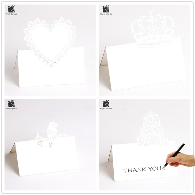 Thank You 3D Laser Cut Wedding Invitation RSVP Cards Small Love Message Gift Postcards Birthday With Envelope