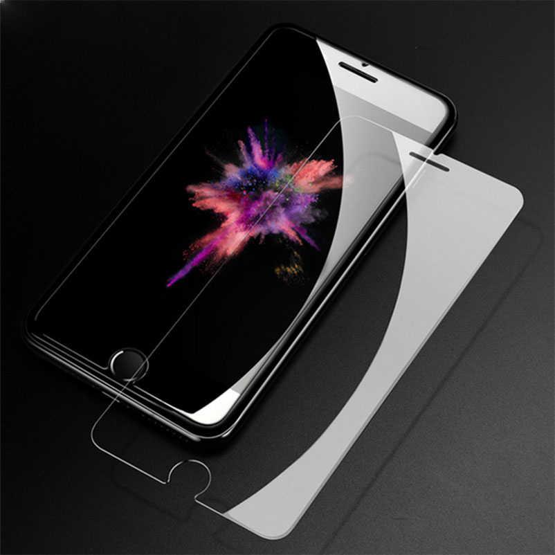 """9H الزجاج المقسى واقي للشاشة ل iphone 11 برو Xs ماكس XR 7 7S X 8 4 4s 5 5s 5c SE 6 6s 10 زائد 6.1 """"فيلم حالة"""