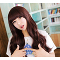 New Fashion Lolita Korean Wigs Long Black Dark Brown Light Brown Curly Wave Hair Cospaly Wig