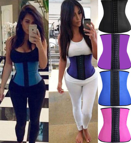 Miss Moly Women Body Shaper Corsets Latex Rubber Waist Trainer Cincher Underbust Corset Shapewear for Weight Loss Slimmer Hot