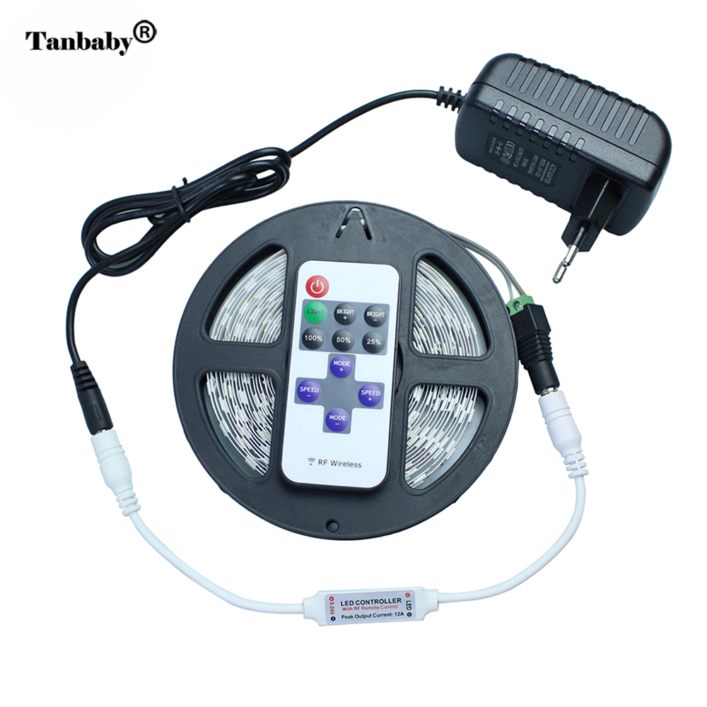 Tanbaby 5630 led strip with Controller and Power supply 5M ...