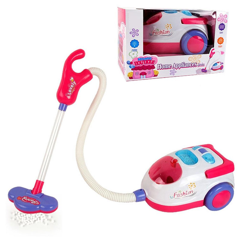 1 Pcs New Pretend Play Toy Vacuum Cleaner Toy For Kids Housekeeping Cleaning Trolley Play Set Mini Clean Up Cart For Kids