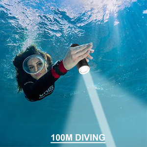 Image 5 - 100m spotlight hunting underwater lamp scuba flashlights led for torch diving flashlight xm l2 26650 18650 rechargeable battery