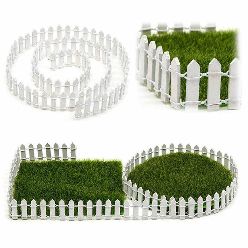 100cm*3cm Miniature Small Wood Fence DIY Dollhouse Fairy Garden Micro Plant Pot Decor Bonsai Terrarium Ornament