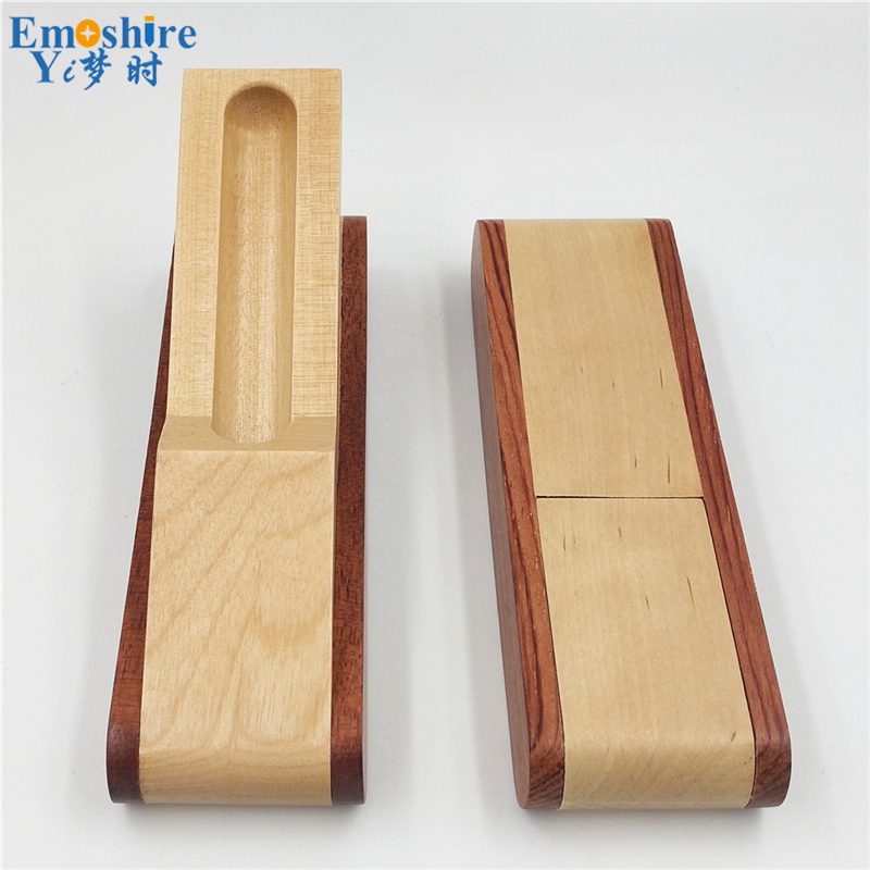 Emoshire Factory direct sales mahogany pieces of wood signature pen suits wooden pen box creative gift customization (12)