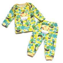 2 компл./упак., комплект нижнего белья для маленьких мальчиков и девочек, футболка с длинными рукавами и воротником-конвертом+ одежда для малышей, Одежда для новорожденных до 24 месяцев