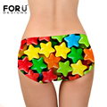 FORUDESIGNS Hot Sale Colorful Star Print Women Briefs Panties Underwear Lady Panty Tangas Calcinha Bragas Lingerie briefs