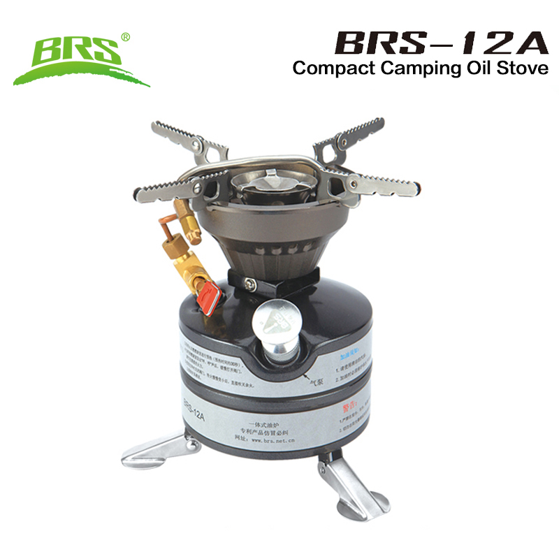 BRS Outdoor Camping Gasoline Stove One-piece Burners Petrol Stove Cookware Diesel Kerosene Camp Oil Stove Picnic Furnace BRS-12A multifunctional portable outdoor camping petrol stove burners 1000ml gasoline picnic gas stove cooking stove wholesale