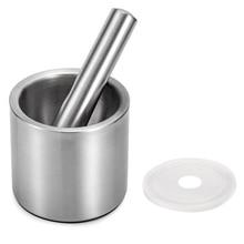 Leeseph ступка и пестик наборы-18/8 Матовая нержавеющая сталь ручная мельница для пряностей/чаша для трав