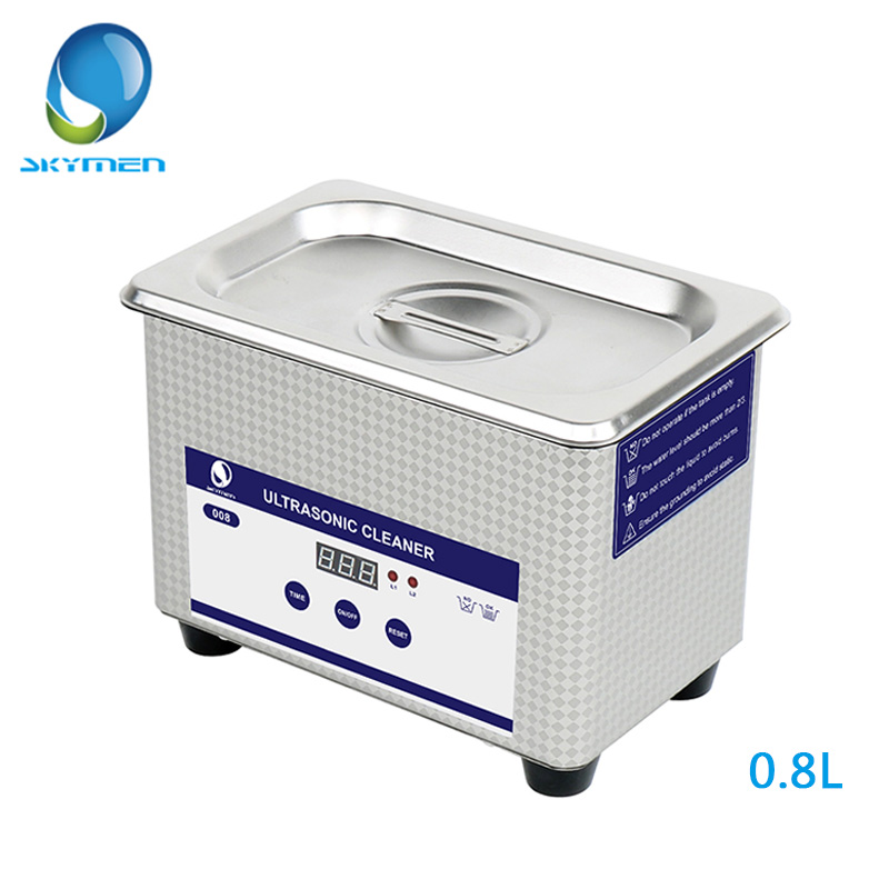 SKYMEN цифровой ультразвуковая ванна 0.8L 35 Вт 40 кГц ванна для украшения для маникюра часы протез Сеть чистого JP-008 модель