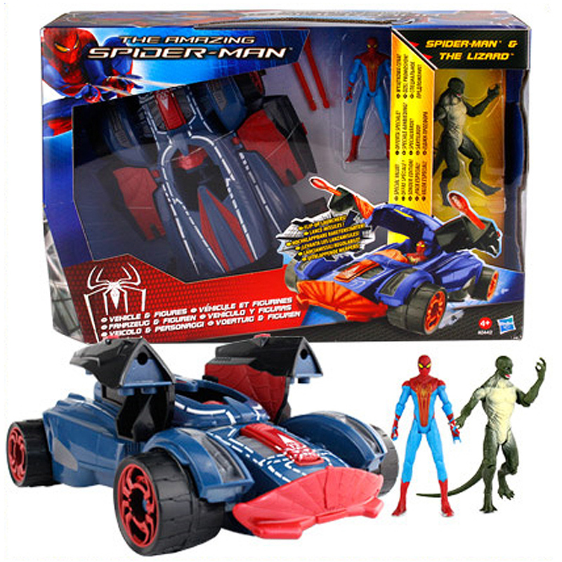 The Amazing Spider-Man Spiderman Action Figure Spider Strike Vehicle The Lizaad Figure Toy 20cm amazing spider man the clone conspiracy