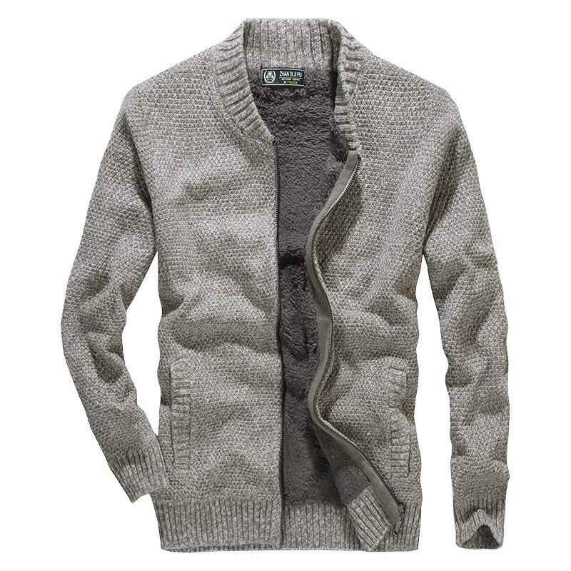 Hommes vêtements 2018 hiver polaire chandail hommes style européen épaissir tricots marque hommes chandail manteau cardigan pour hommes
