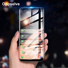Screen Protector Tempered Glass For Samsung Galaxy S9 S8 Plus Note 8 Note 9 3D Curved Full Protective Glass Film For Galaxy S9 + protective glass red line for samsung galaxy s9 full screen 3d black