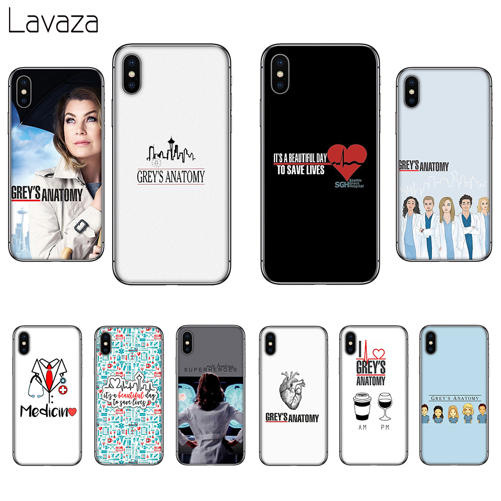 Lavaza <font><b>Greys</b></font> <font><b>Anatomy</b></font> Soft Silicone <font><b>Case</b></font> Cover for Apple iPhone 6 6S 7 8 Plus 5 5S SE X XS 11 Pro MAX XR image