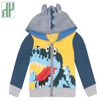 Baby boy jacket Cute Cartoon Cool Dinosaur Autumn spring fleece jacket toddler boys coat Windbreaker children jacket 80-130cm